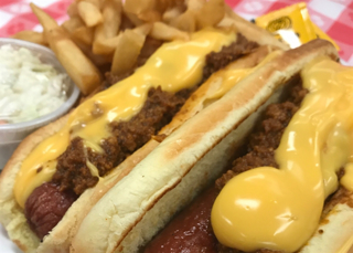 Picture of 2 Nathans Chili Cheese Dogs